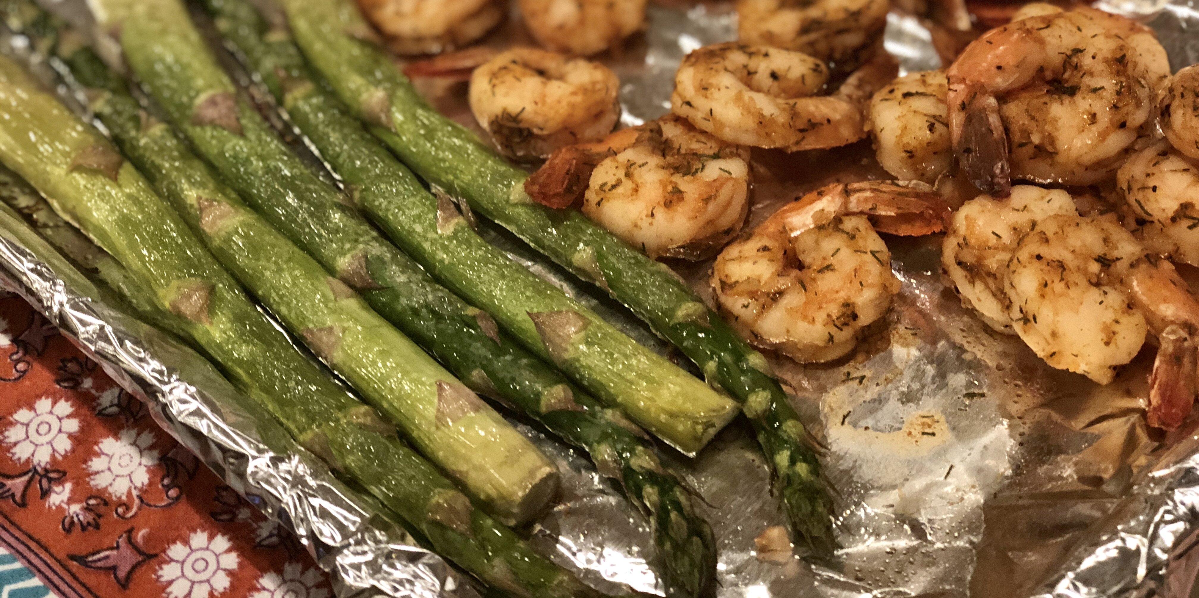 back to sheet pan lemon butter garlic shrimp with asparagus recipe