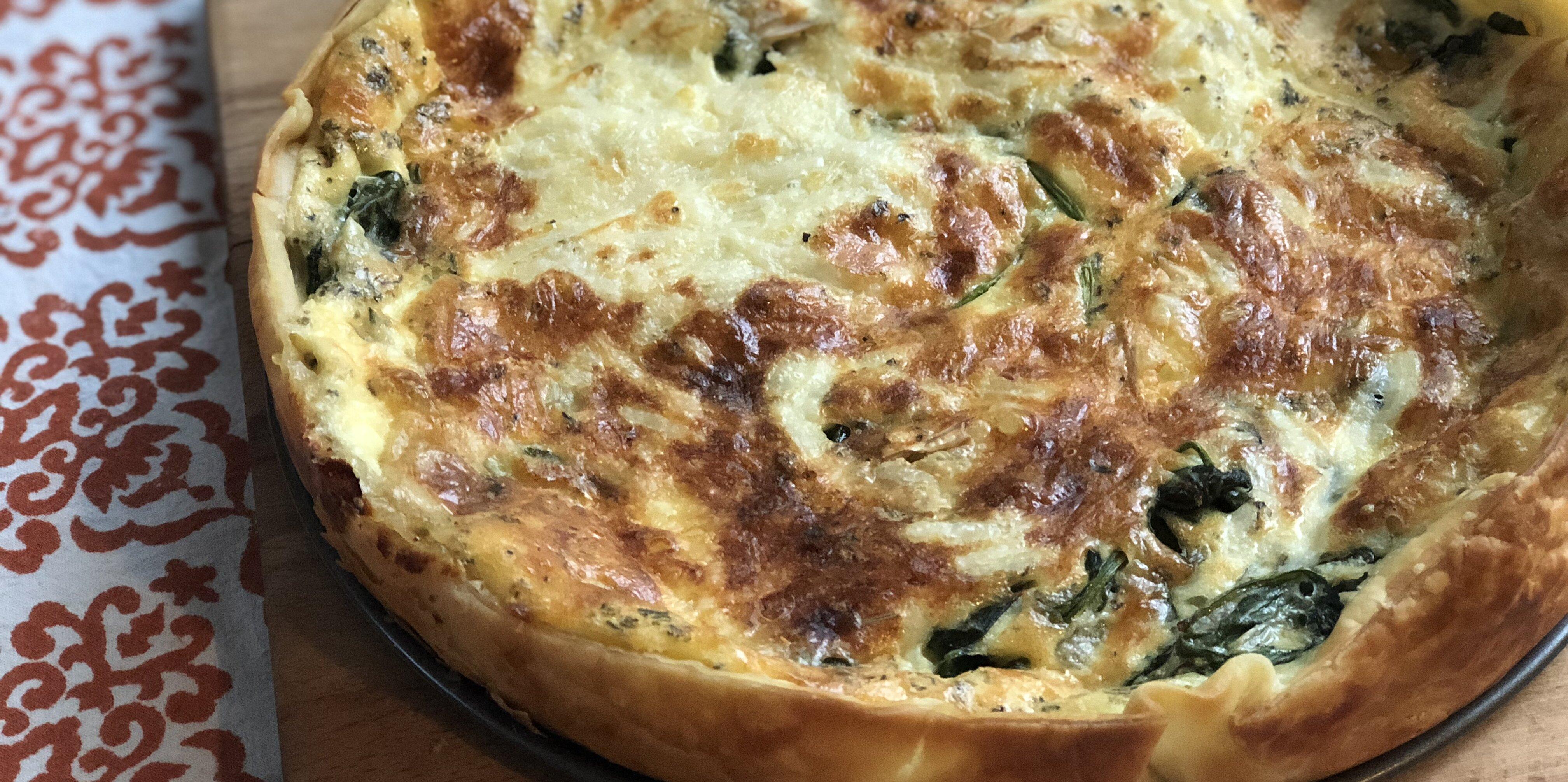 easy spinach and gouda cheese quiche recipe