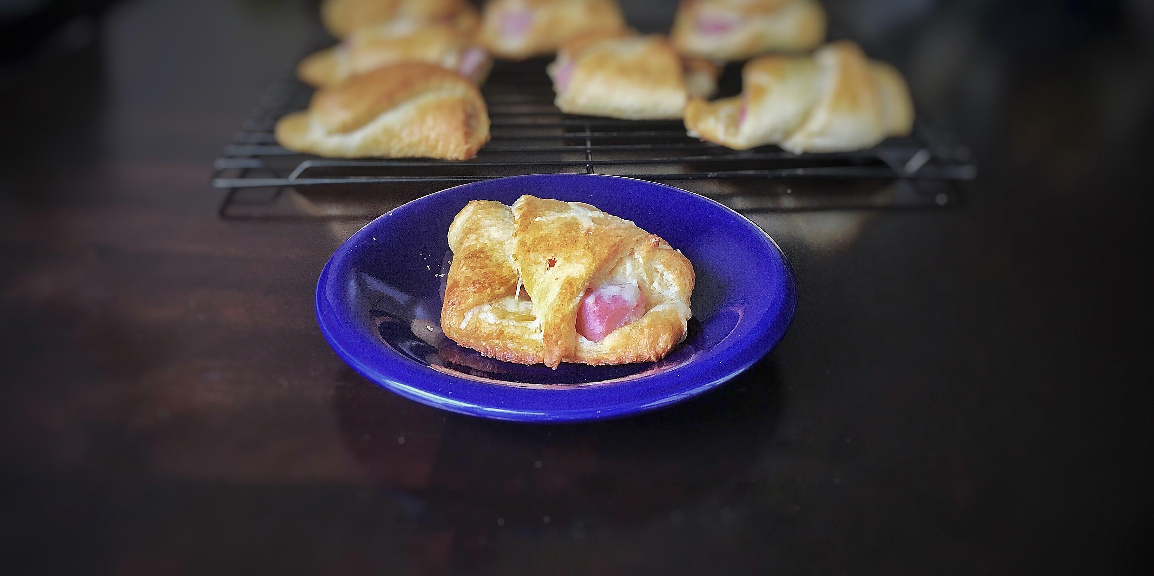 breakfast croissants stuffed with ham and gruyere recipe