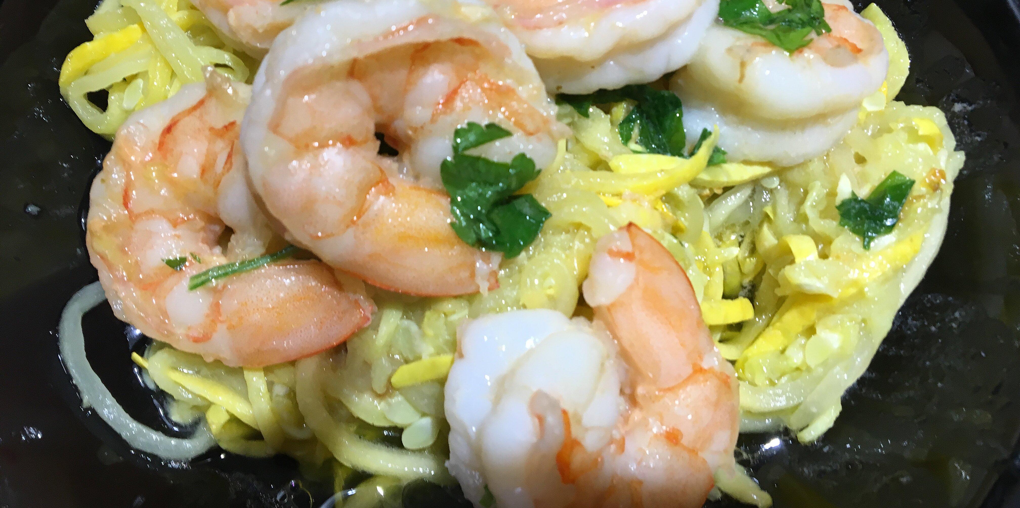 keto shrimp scampi with broccoli noodles recipe