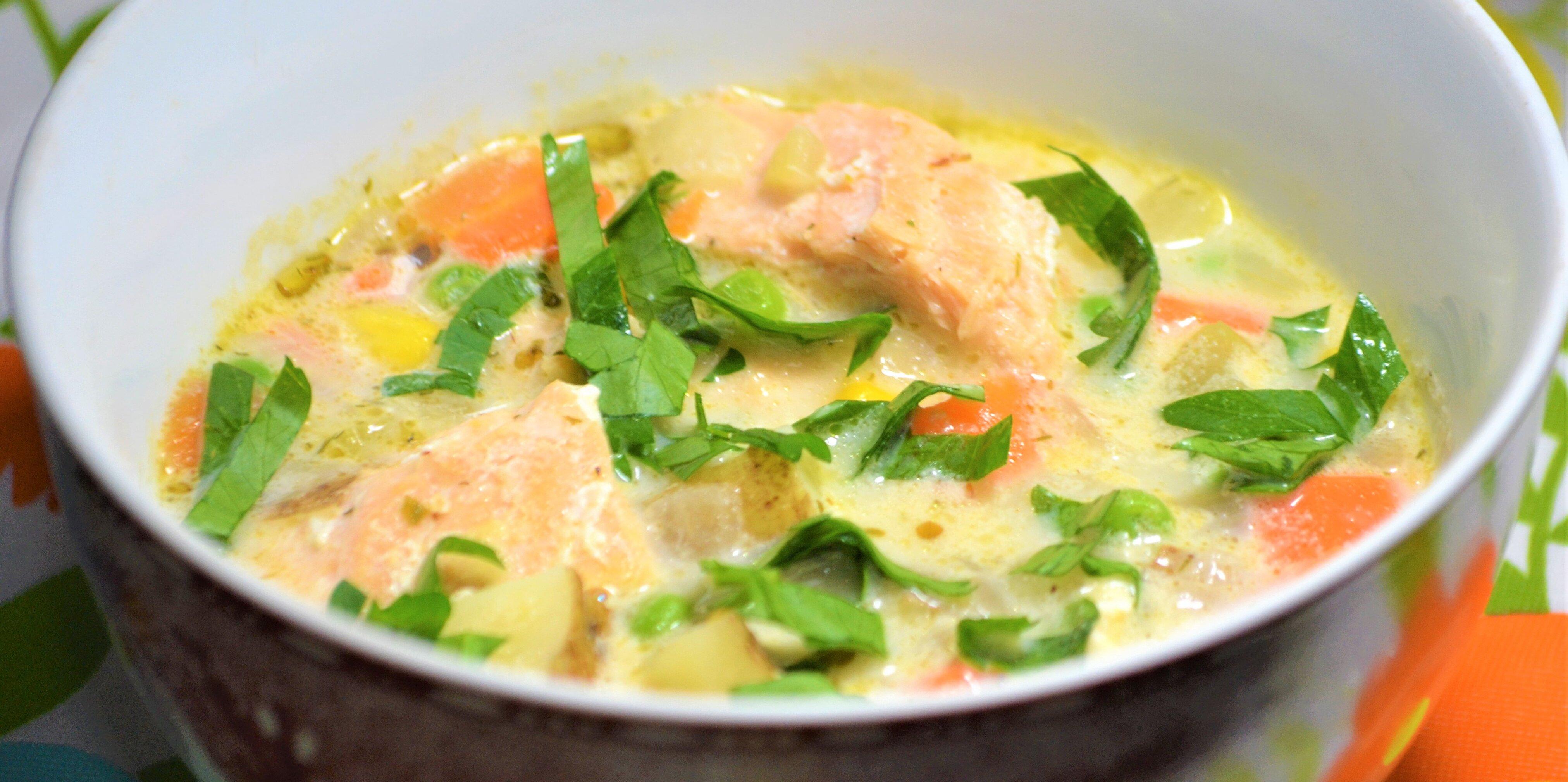 creamy salmon chowder recipe