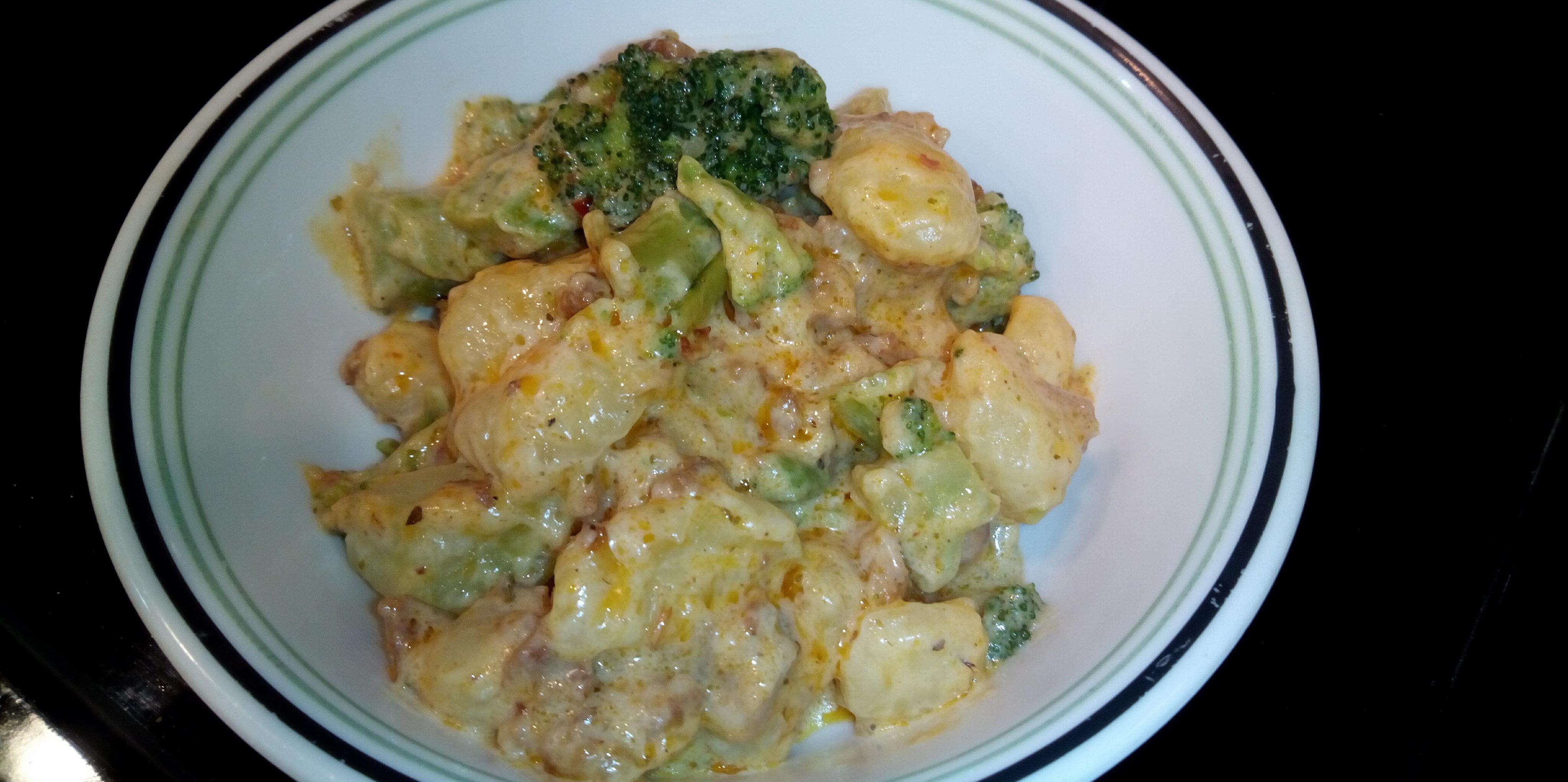 20 minute sausage broccoli gnocchi alfredo recipe