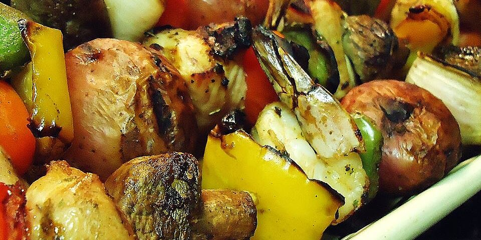 tangy almond chicken kabobs recipe