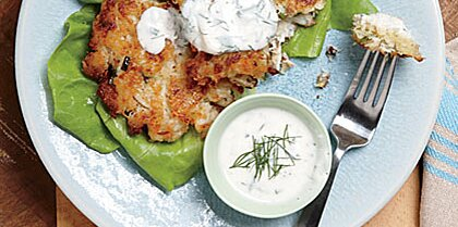 Crab Cakes With Buttermilk Ranch Dressing Recipe Myrecipes