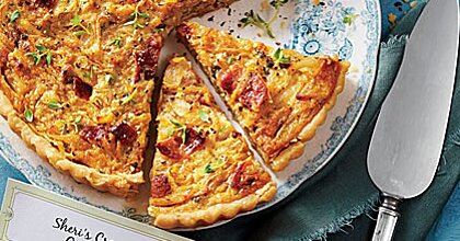 Creamed Onion Tart Recipe