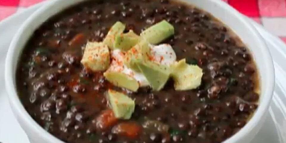 chef johns black lentil soup