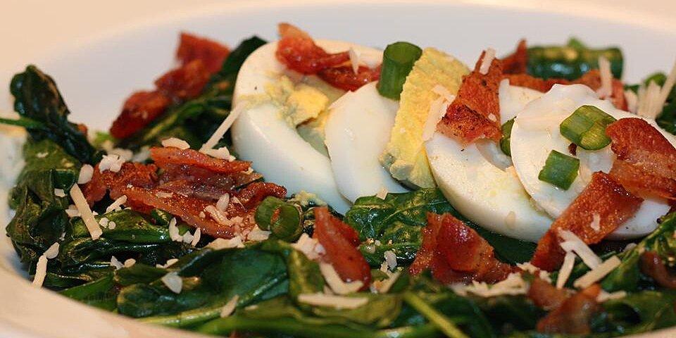 easy warm spinach salad recipe
