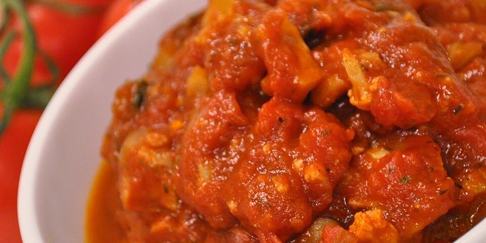 spaghetti sauce with cauliflower