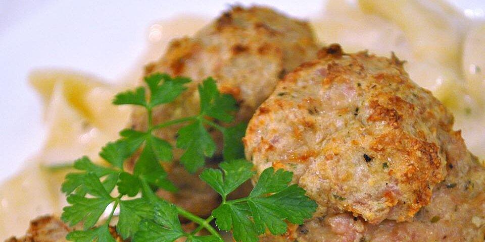 cheesy chicken meatballs recipe