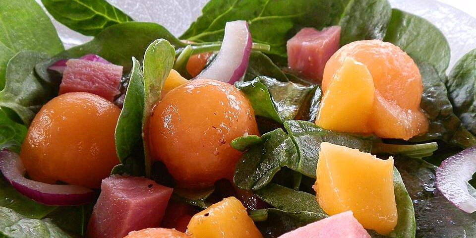 springtime ham and spinach salad recipe