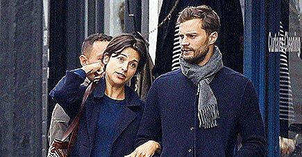 Jamie Dornan and Wife Amelia Warner Out in London Oct. 2015