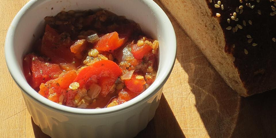 amazing tomato red lentil soup recipe