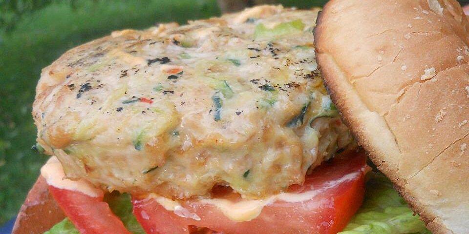 asian zucchini and chicken burgers recipe