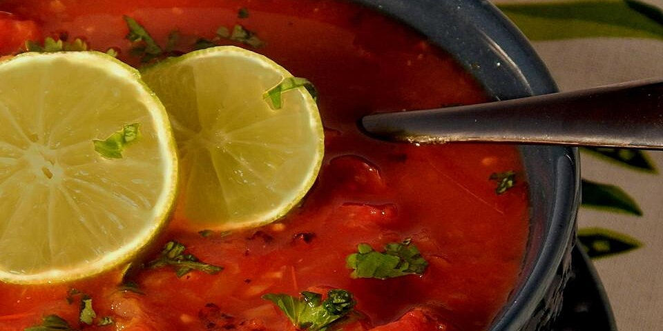 spicy tequila lime tomato soup recipe
