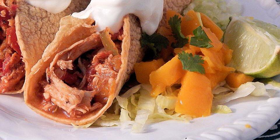 mango lime shredded chicken tacos recipe