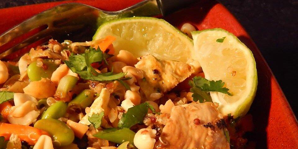 pad thai quinoa bowl recipe