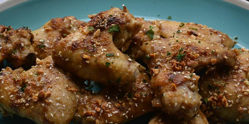 peanut sesame chicken wings recipe