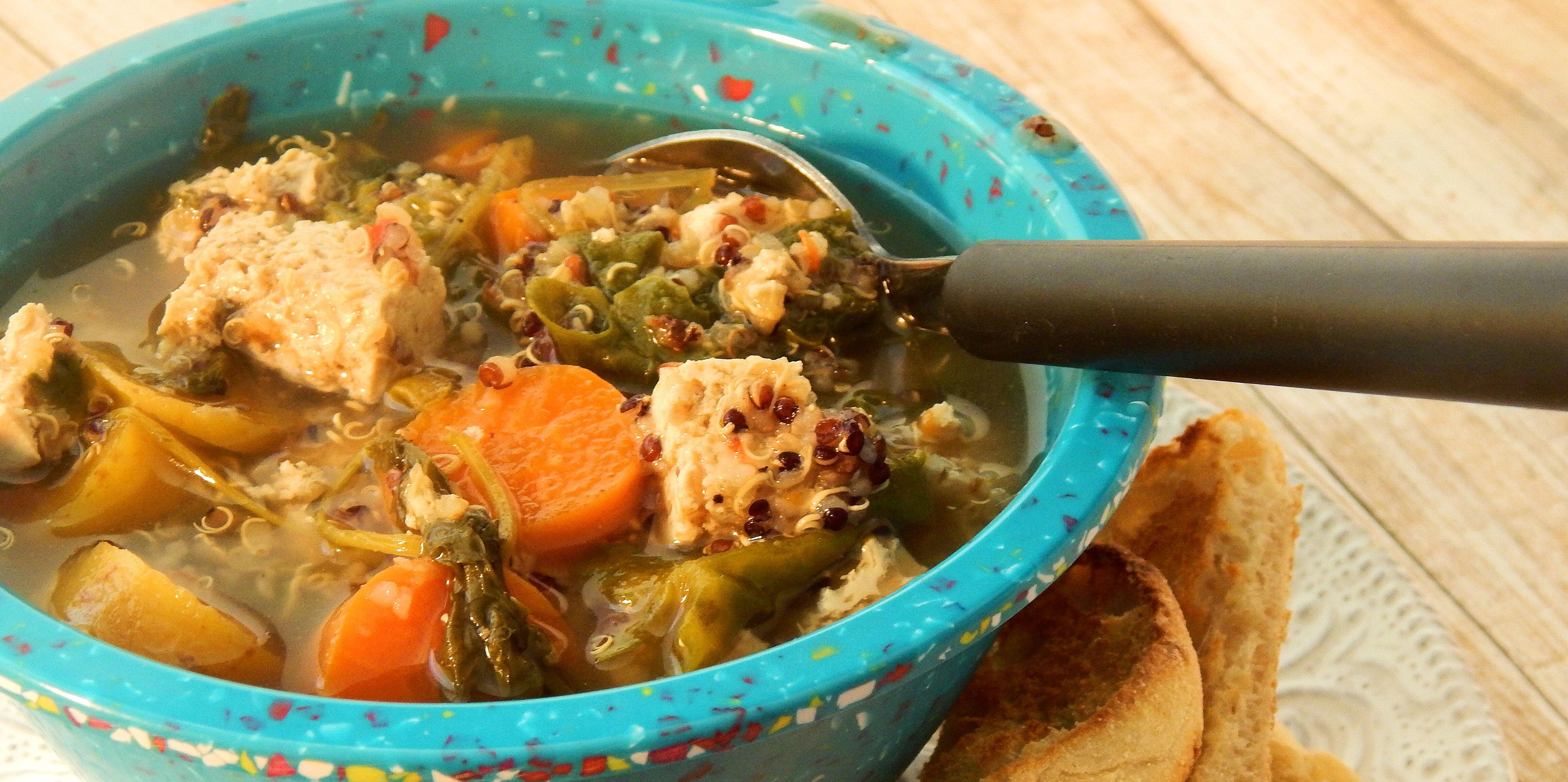quinoa tofu super soup for cold season recipe