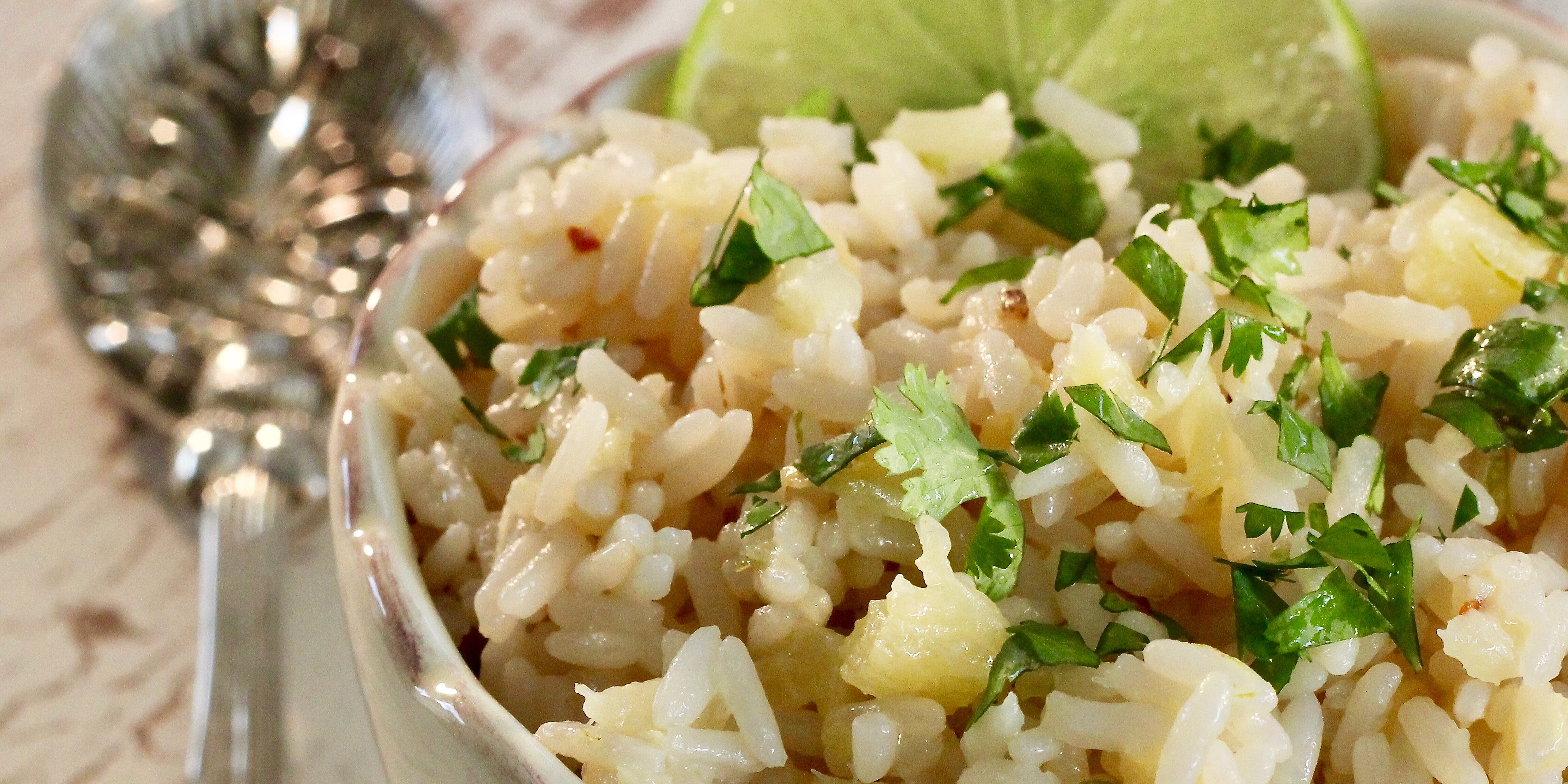 instant pot pineapple coconut lime rice recipe