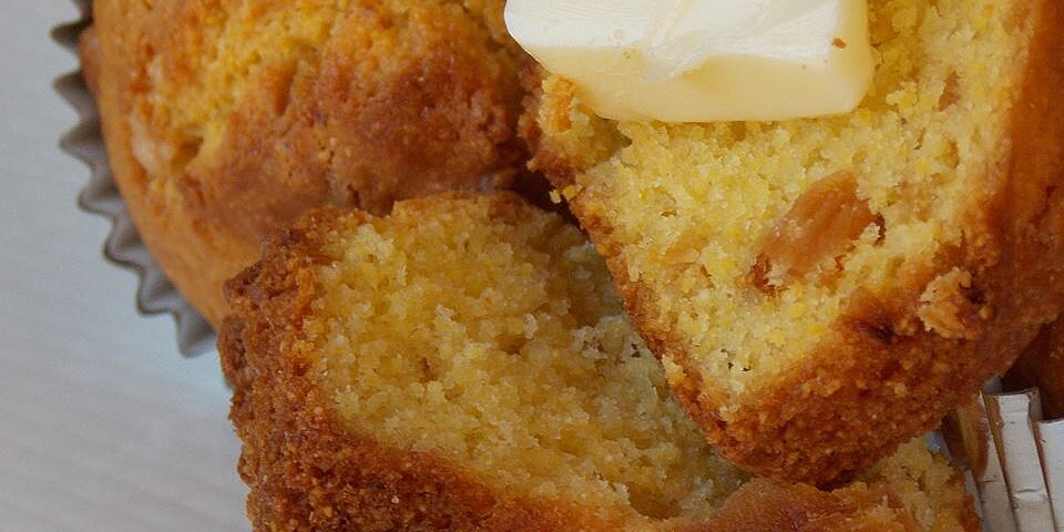 brown butter pineapple corn muffins