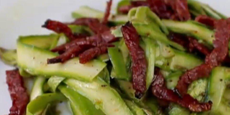 chef johns shaved asparagus salad