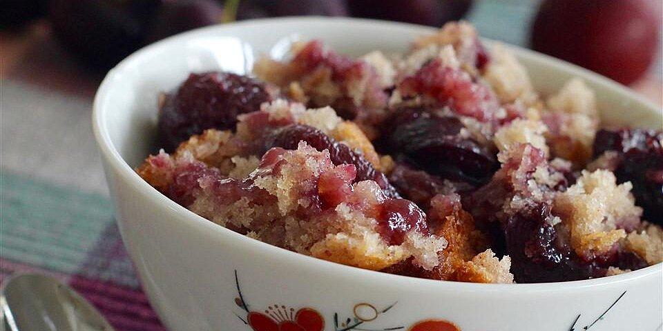 cherry or fruit cobbler recipe
