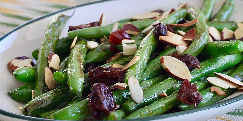 chef bills green bean almondine with cranberries recipe