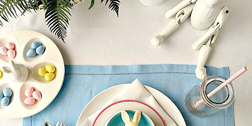 inexpensive but chic easter place settings