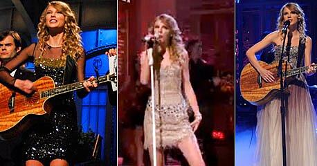 Taylor S Swift Glittery Saturday Night Live Fashions Ew Com