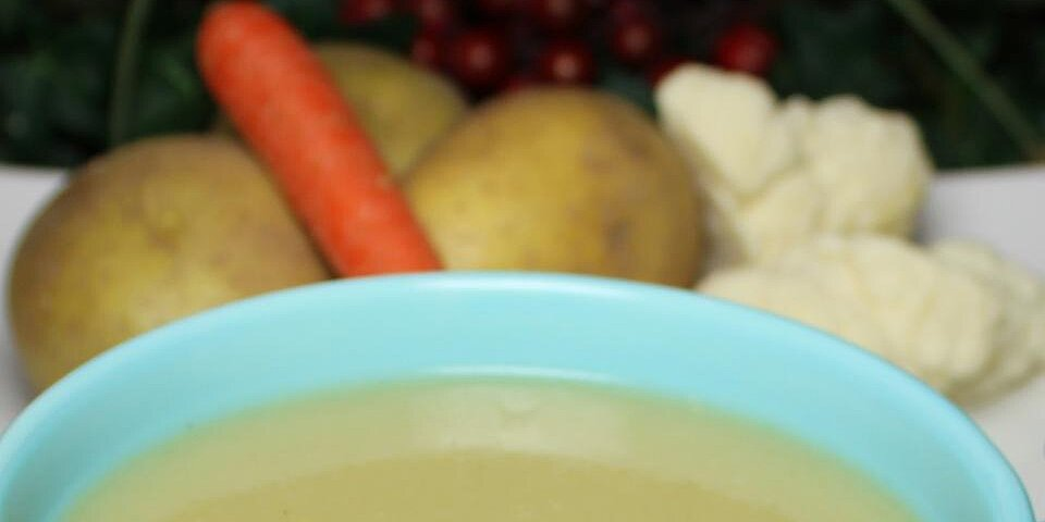 healthier potato and cauliflower soup recipe