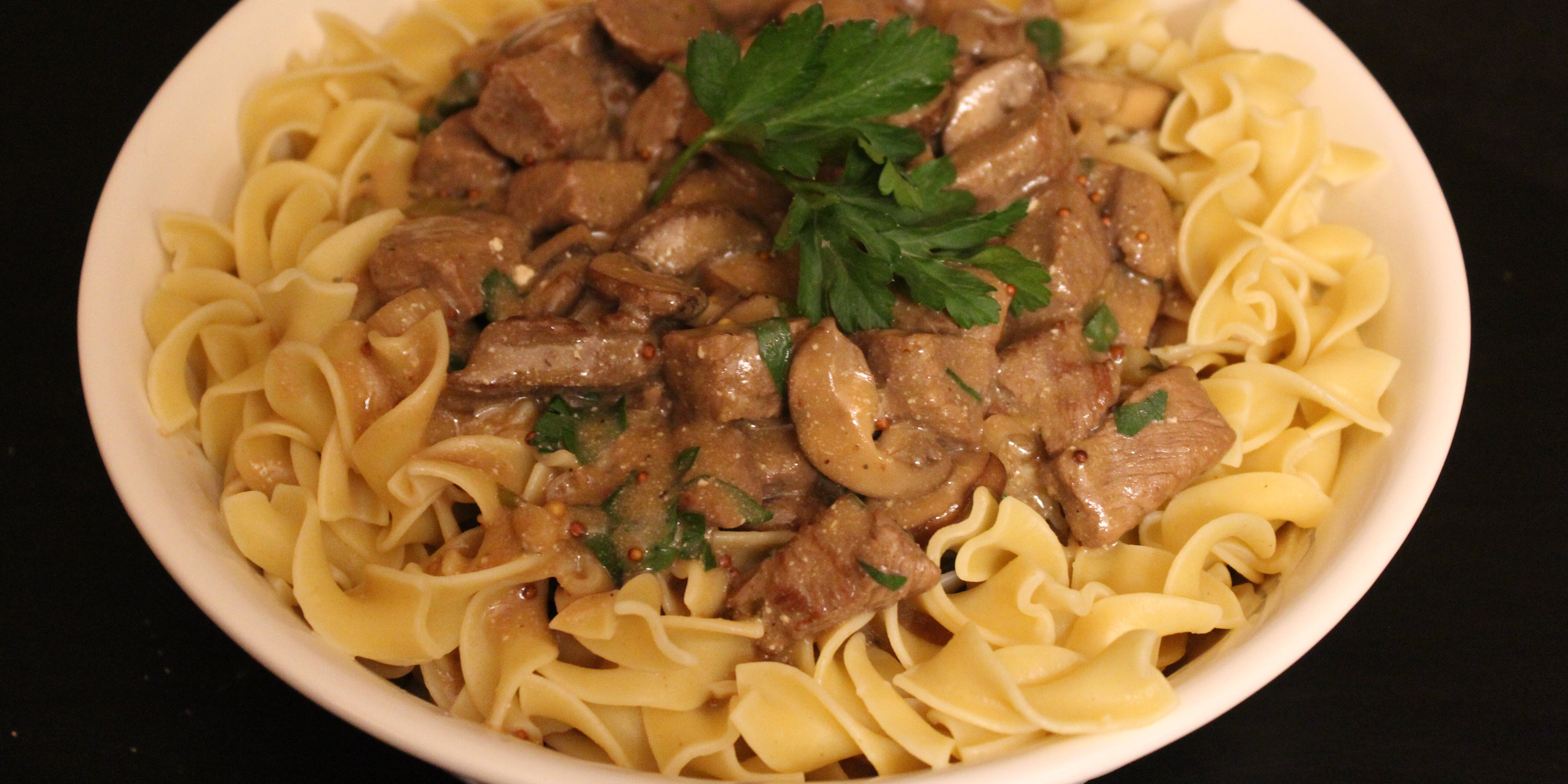 classic beef stroganoff in a slow cooker recipe