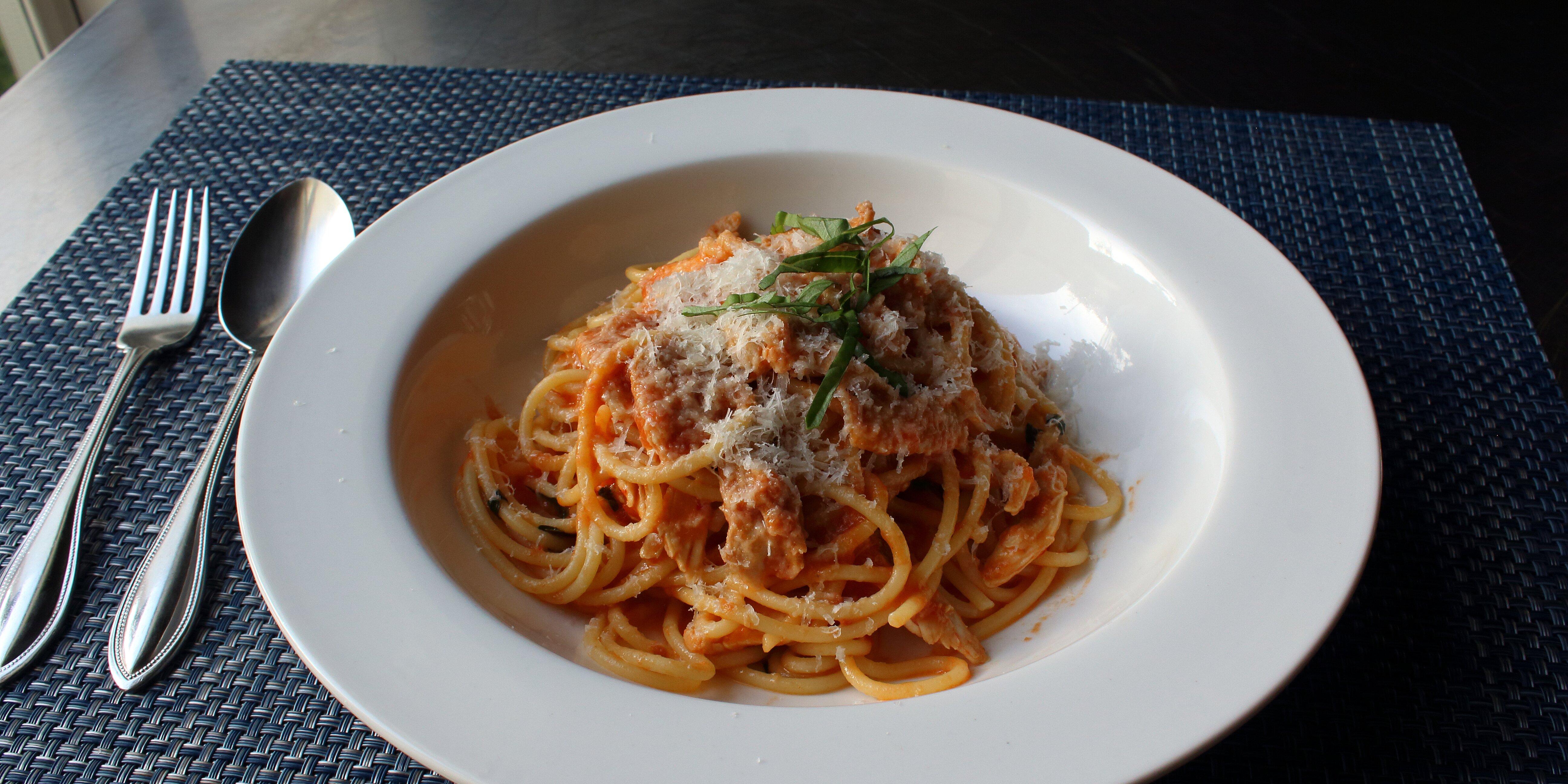 chef johns chicken spaghetti recipe
