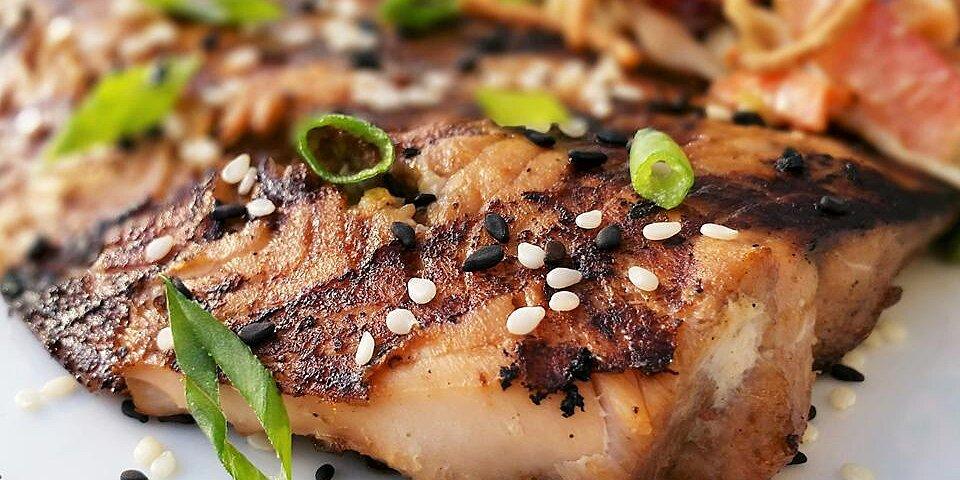 sesame grilled salmon recipe