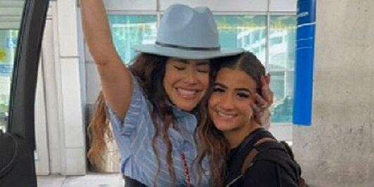 Barbara Camila se reencuentra con su familia en Miami