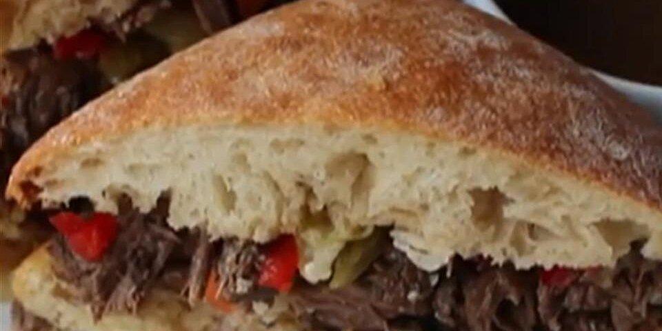 chicago inspired italian beef sandwich