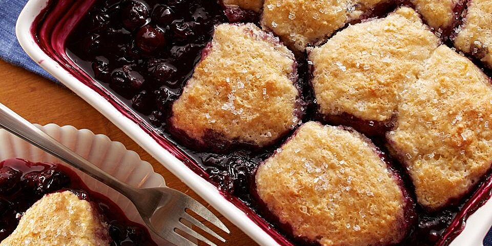 blueberry cobbler from land olakes