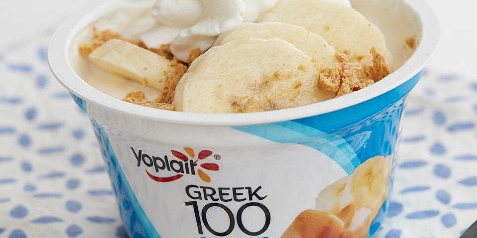 banana caramel cream pie yogurt cup recipe