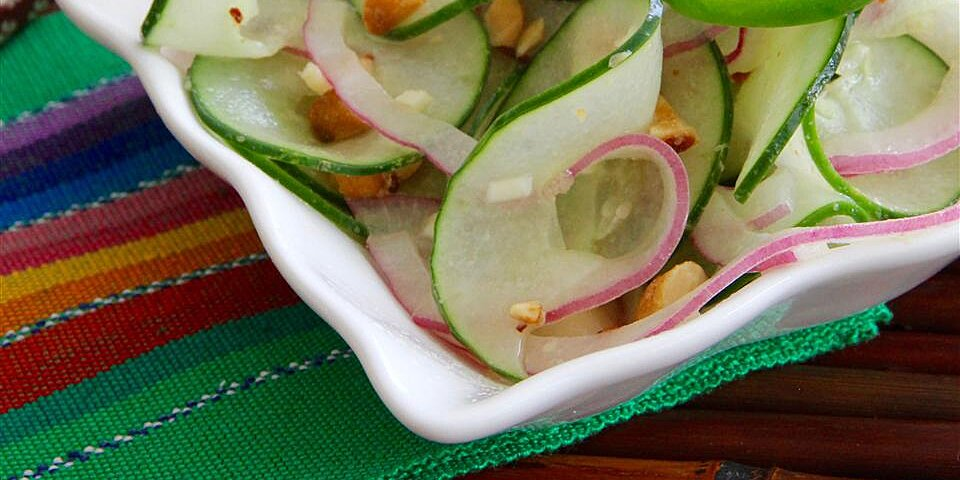 asian inspired cucumbers with a kick recipe