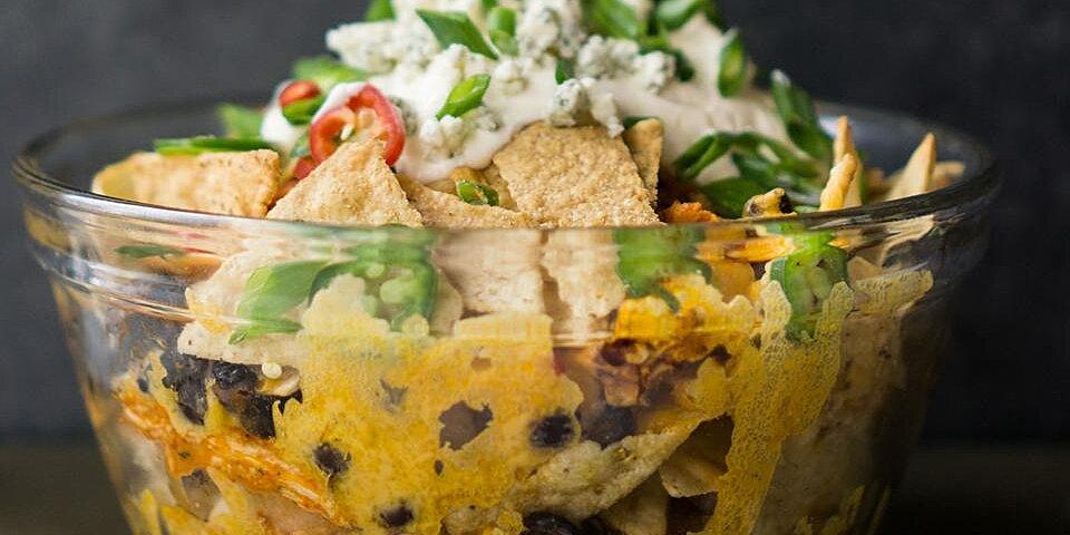 buffalo chicken nacho bowl recipe