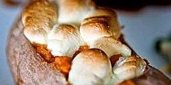 twice baked sweet potatoes with mini marshmallows recipe