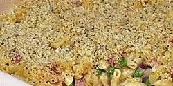 macaroni and cheese with ham peas and shallots recipe
