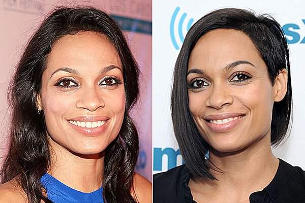 Rosario Dawson Shaved Head Rosario Dawson Haircut Brie Larson Hair People Com