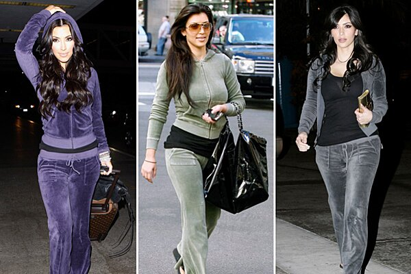 An Ode To Kim Kardashian And Her Beloved Juicy Couture Velour Tracksuits People Com
