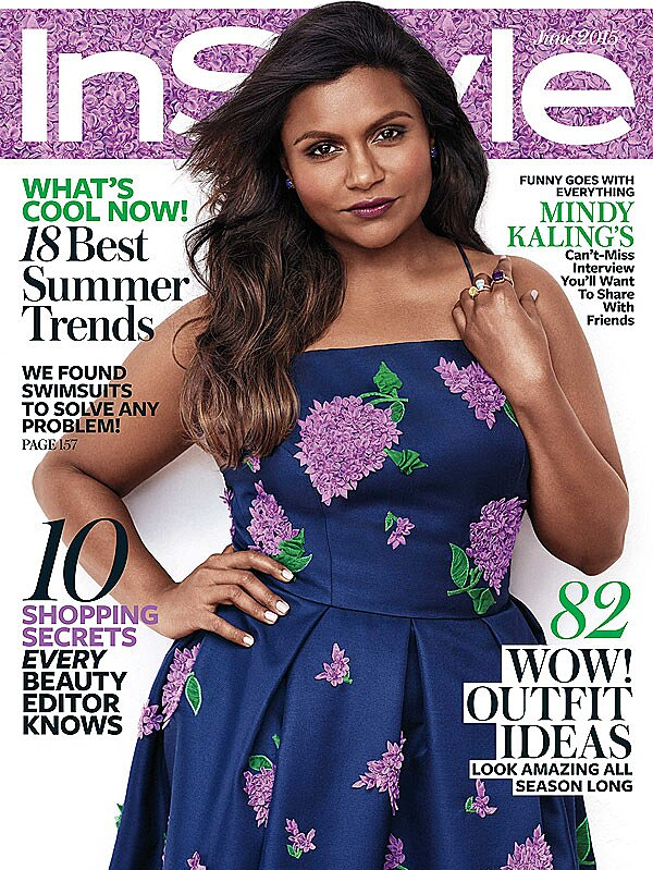 Mindy Kaling Lands Instyle June Cover And Talks About Bj Novak People Com