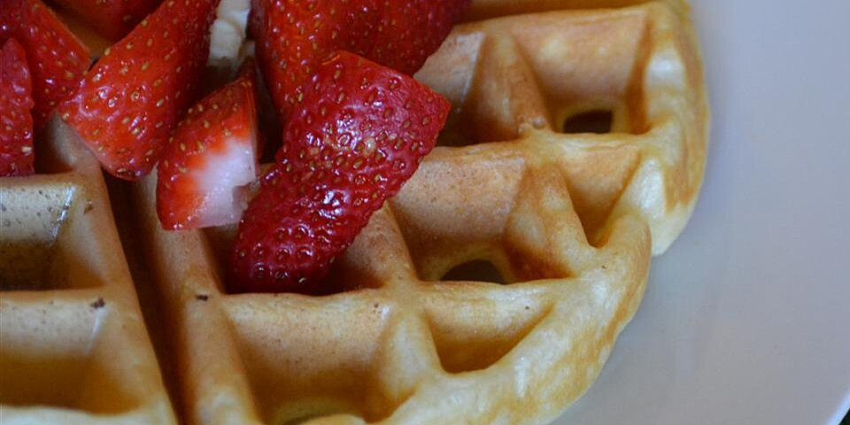 tender and easy buttermilk waffles recipe