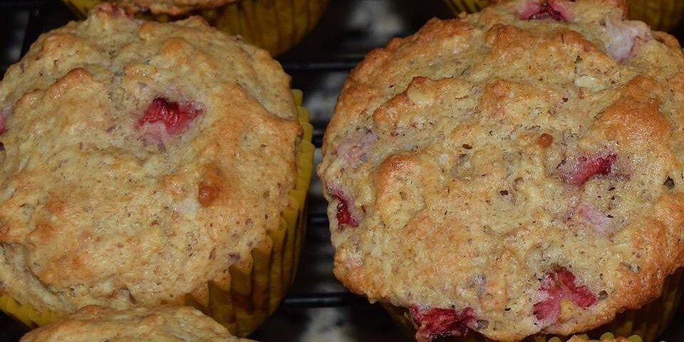 healthier fresh strawberry muffins recipe
