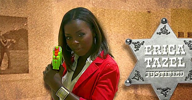 Justified Watch Erica Tazel Take Aim In Ew S Tv Star Shootout Ew Com Her parents moved to germany while she was still an infant yet continued to return frequently to asmara to visit her mother's family, until a civil war erica tazel at an event for justified (2010). justified watch erica tazel take aim