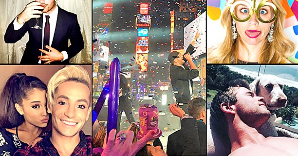New Year's Eve: Celebrity photos ring in 2016