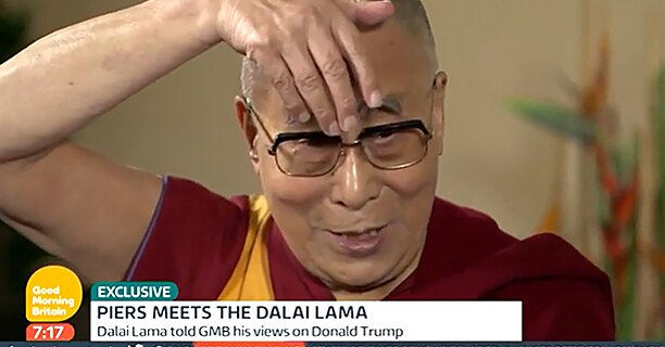Stephen Colbert Praises The Dalai Lama S Donald Trump Impression Ew Com