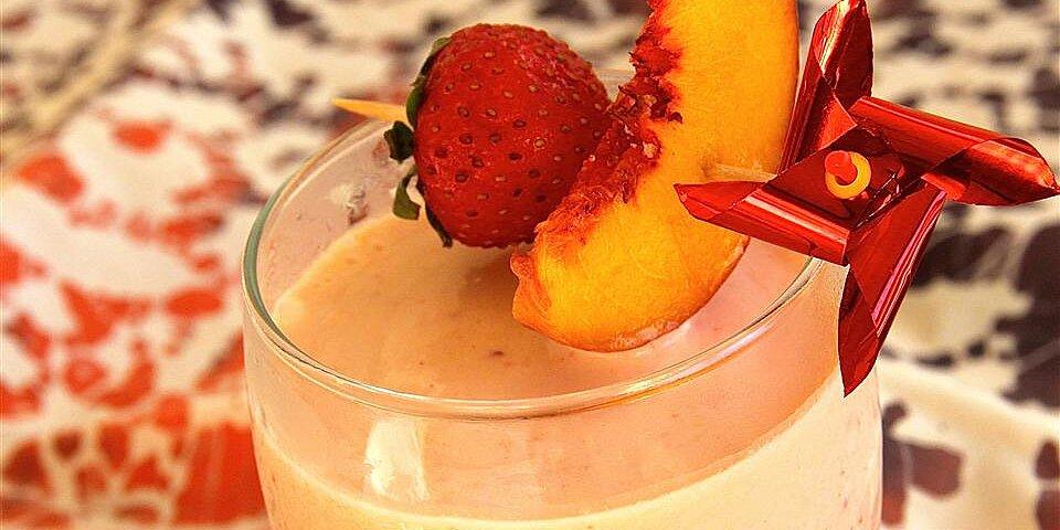 rosy ginger peach smoothie recipe